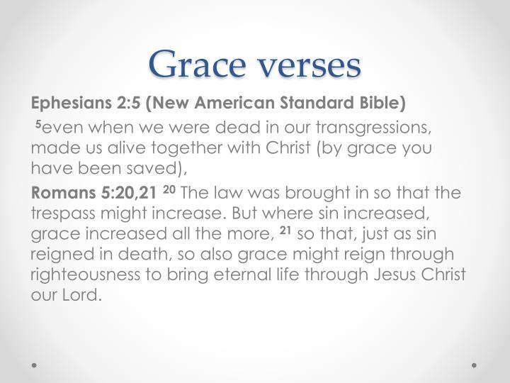 Grace verses