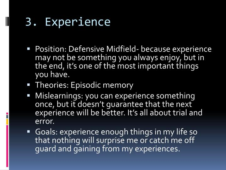3. Experience