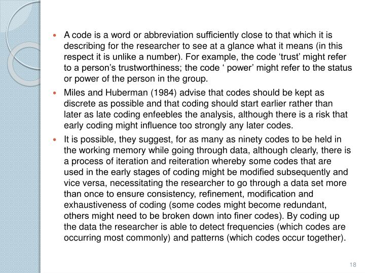 A code is a word or abbreviation