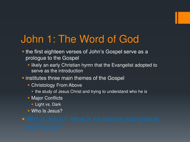 John 1: The Word of God