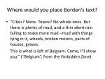 where would you place borden s text
