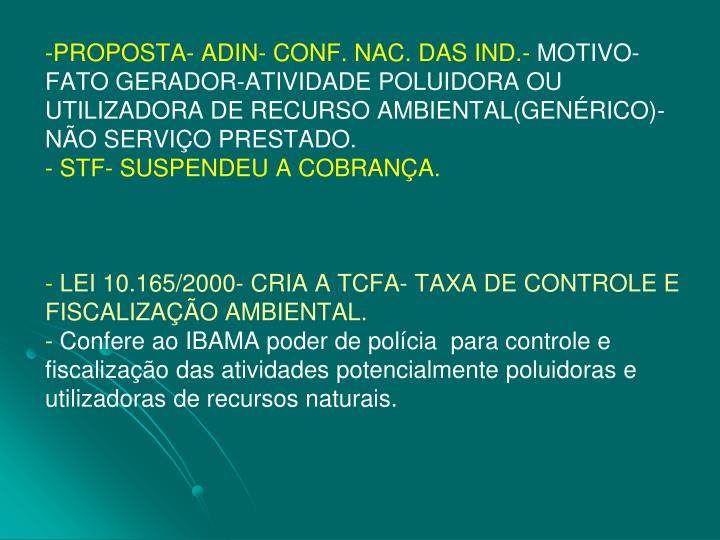 PROPOSTA- ADIN- CONF. NAC. DAS IND.-