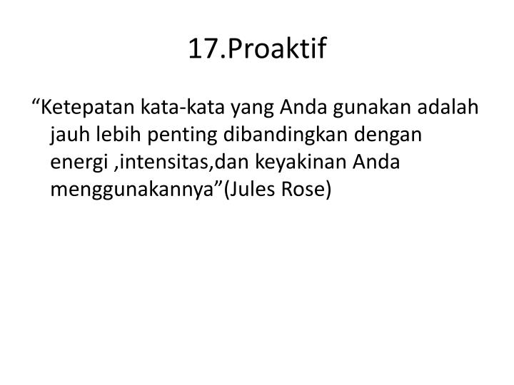 17.Proaktif
