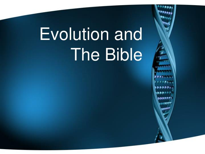 evolution and the bible n.