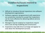 drawbacks issues related to inspections
