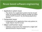 reuse based software engineering