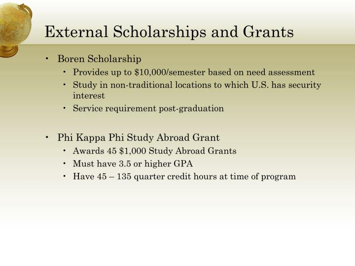 External Scholarships and Grants