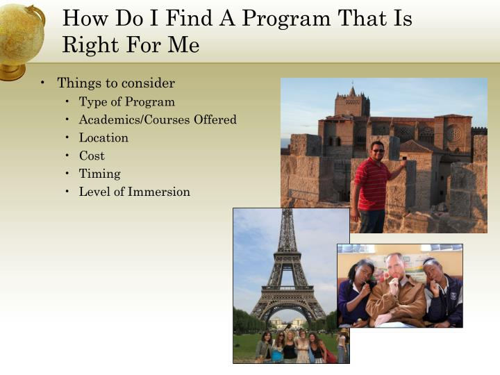 How Do I Find A Program That Is Right For Me