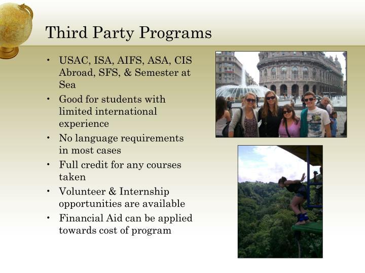 Third Party Programs