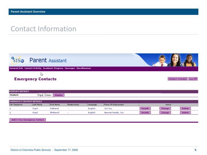 Parent Assistant Overview