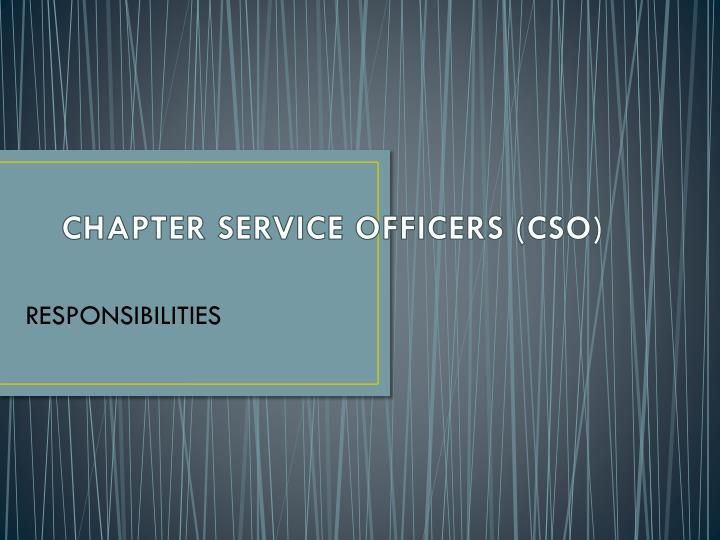 chapter service officers cso n.