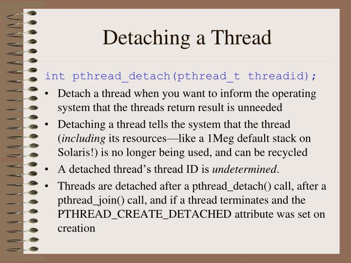 Detaching a Thread
