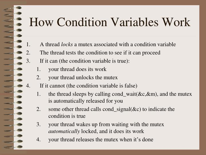 How Condition Variables Work