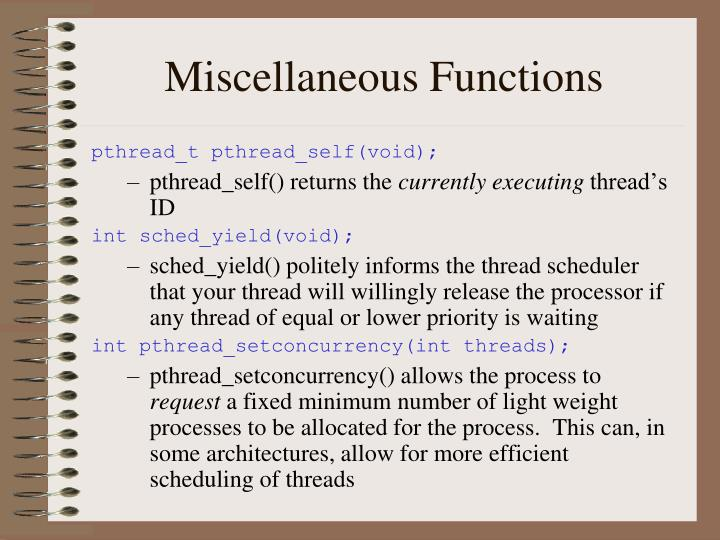 Miscellaneous Functions