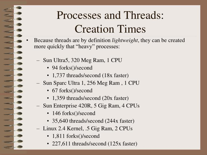 Processes and Threads: