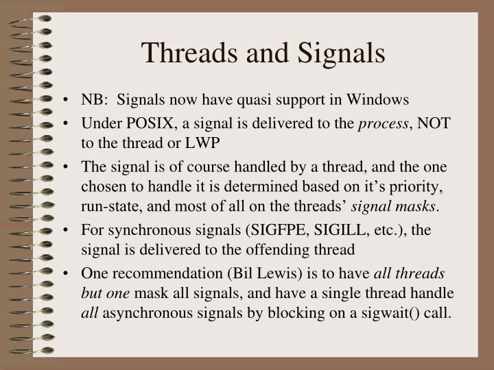Threads and Signals