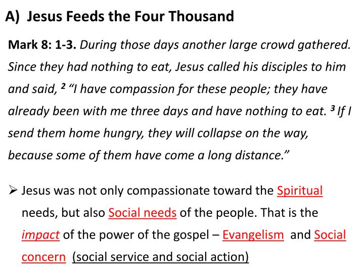 A Jesus Feeds The Four Thousand