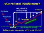 paul personal t ransformation