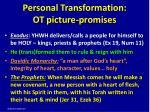 personal transformation ot picture promises