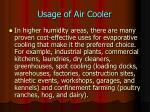 usage of air cooler