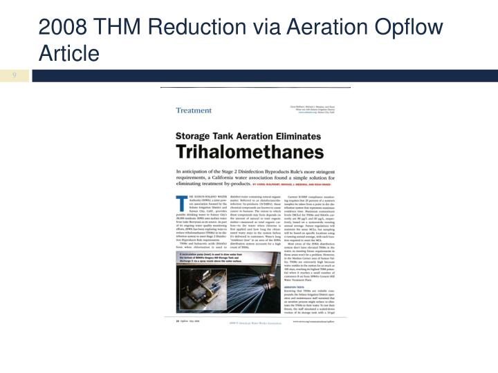 2008 THM Reduction via Aeration