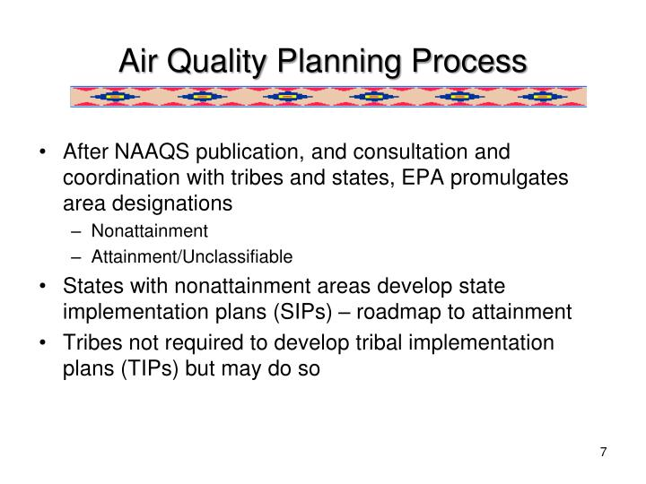 Air Quality Planning Process