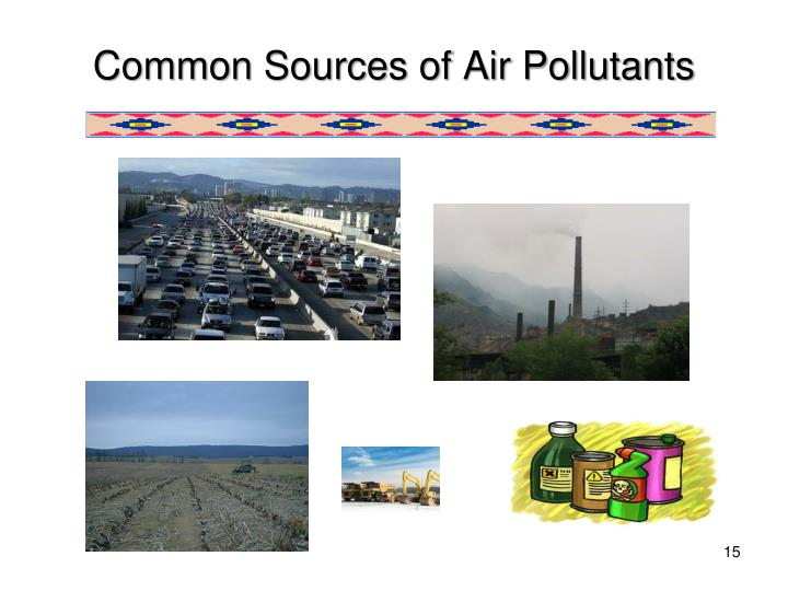 Common Sources of Air Pollutants