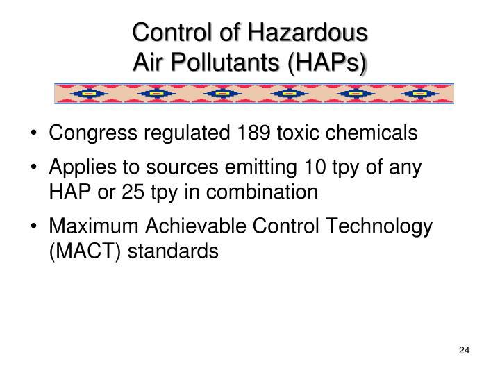 Control of Hazardous