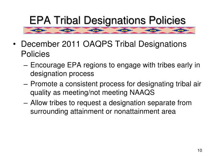 EPA Tribal Designations Policies