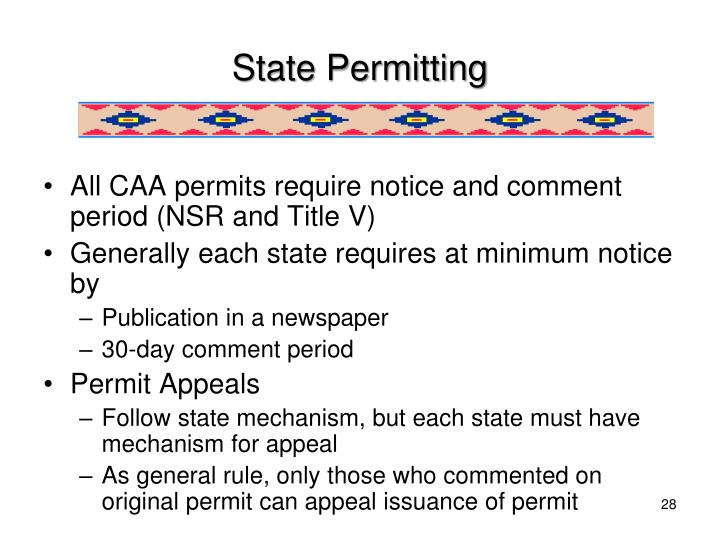 State Permitting