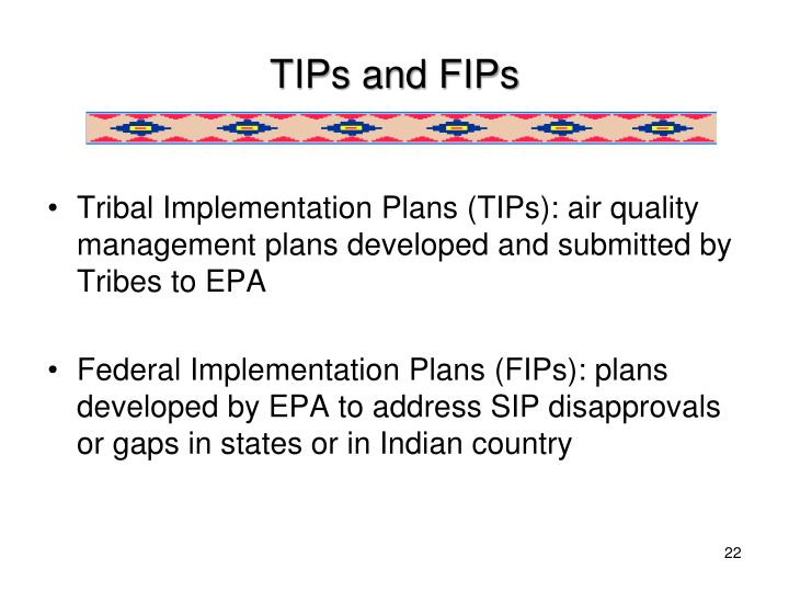 TIPs and FIPs