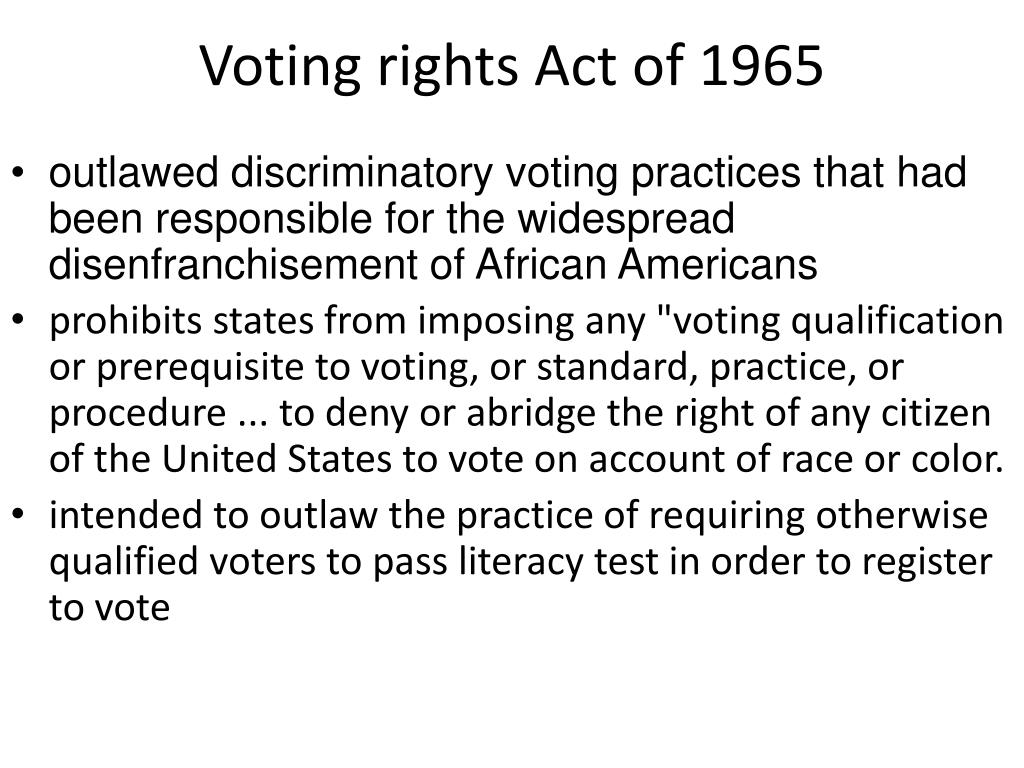 ppt voting rights act of 1965 powerpoint presentation id 1909737