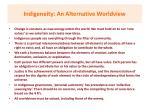 indigeneity an alternative worldview
