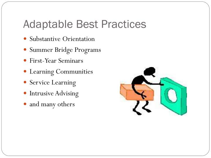 Adaptable Best Practices