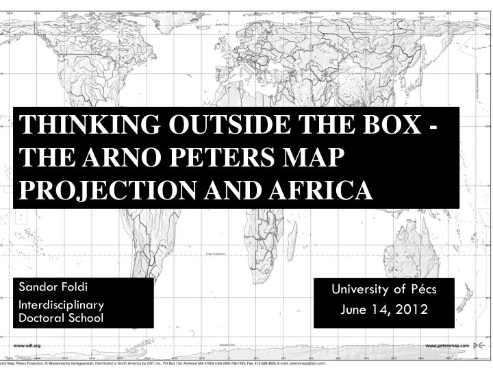 Thinking outside the box the arno peters map projection and africa