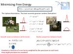 minimising free energy
