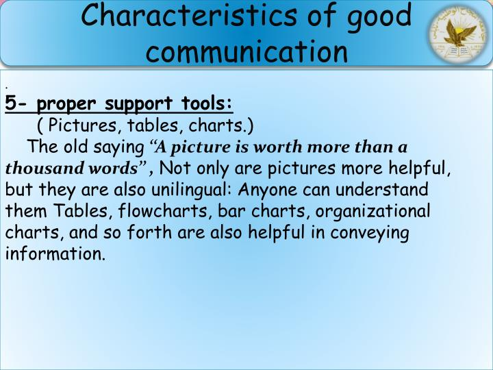 Characteristics of good communication