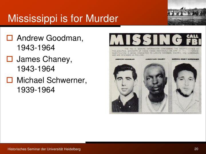 Mississippi is for Murder