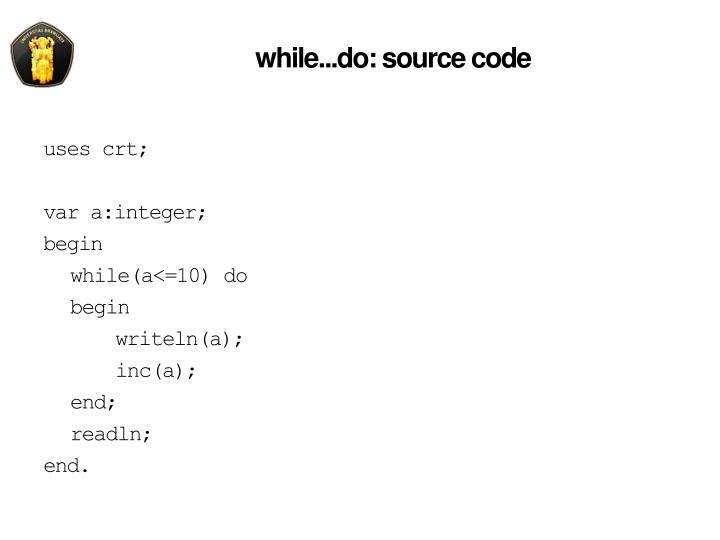 while...do: source code