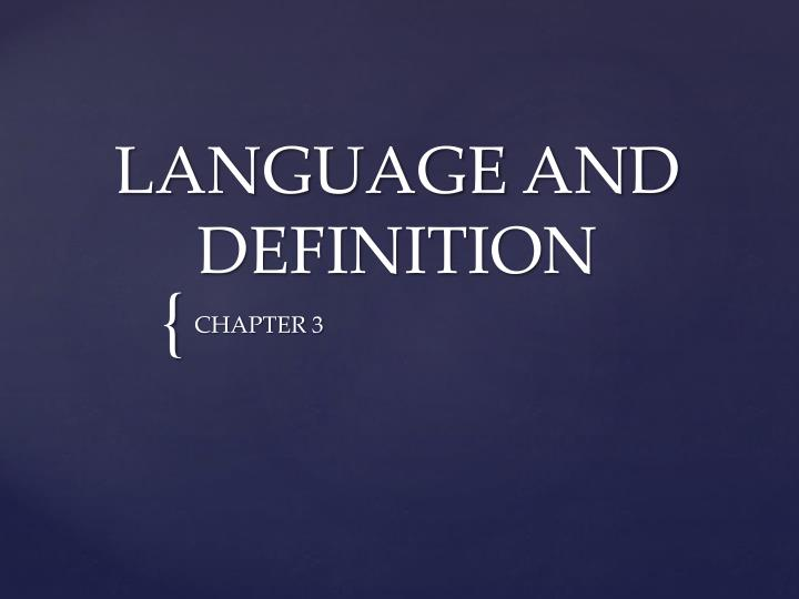 language and definition n.