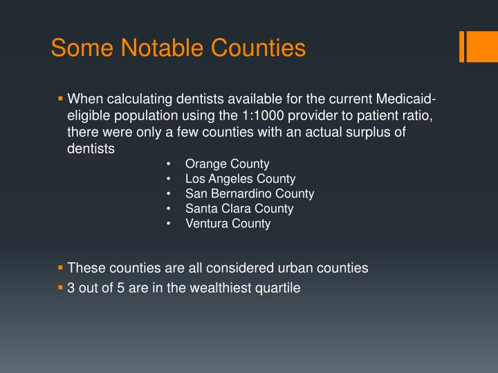 Some Notable Counties