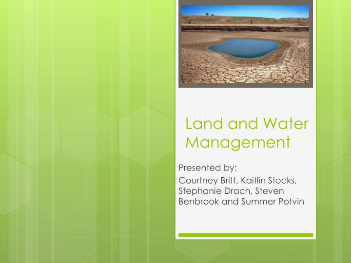 land and water management n.