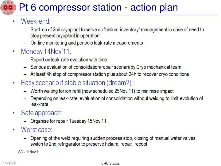 Pt 6 compressor station - action plan