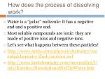 how does the process of dissolving work