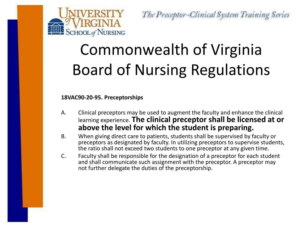 Virginia board of nursing