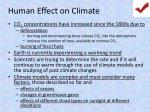 human effect on climate