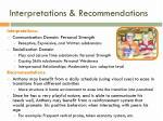 interpretations recommendations