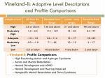 vineland ii adaptive level descriptions and profile comparisons