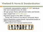 vineland ii norms standardization