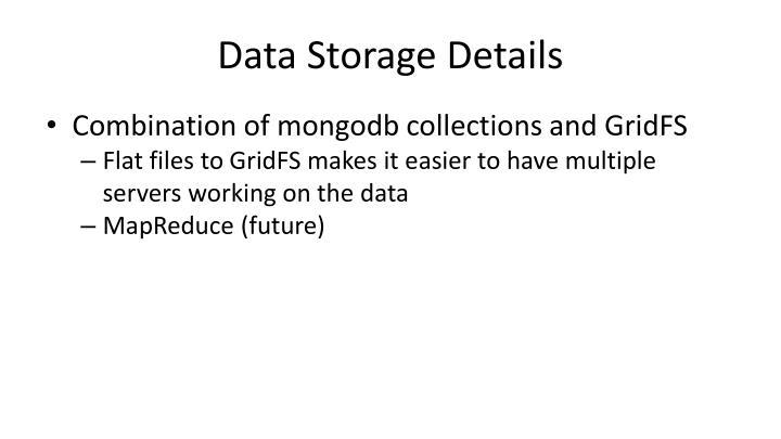 Data Storage Details